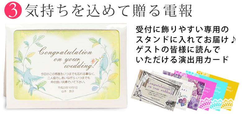 電報(メッセージカード)